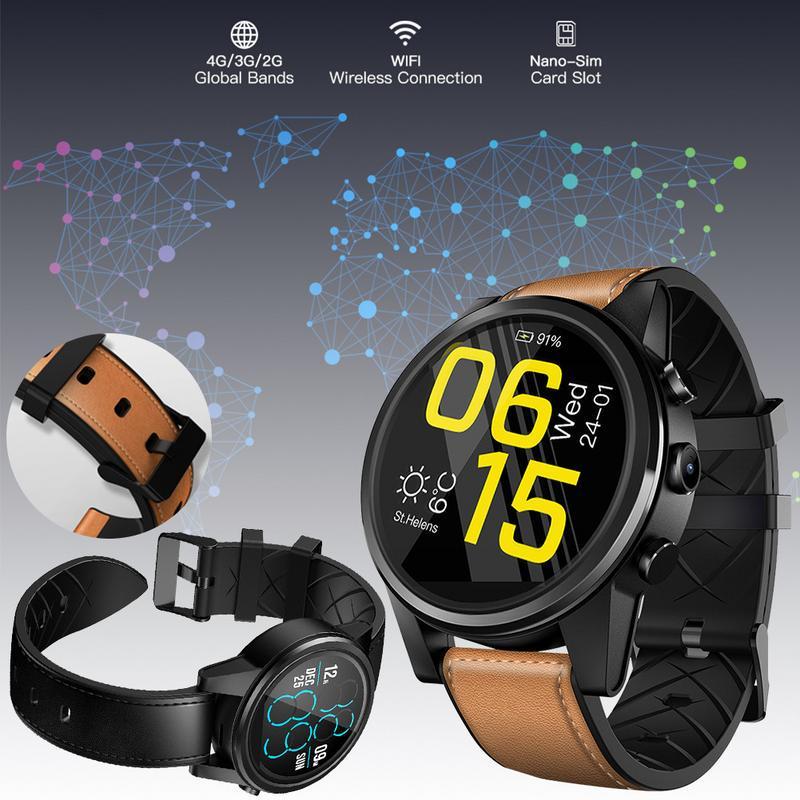 For Zeblaze THOR 4 PRO 4G SmartWatch 1.6 Inch Crystal Display GPS/GLONASS Quad Core 16GB 6