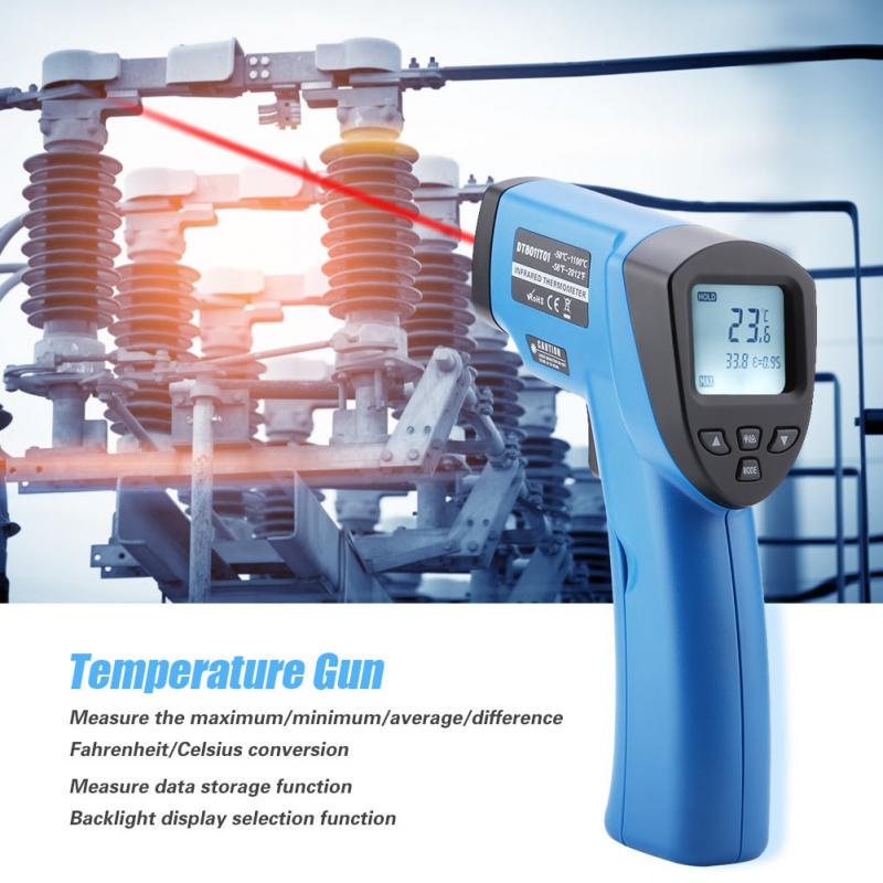 DT8011T01 LCD Temperature Gun Non-contact Infrared IR Digital Thermometer -50℃~1100℃