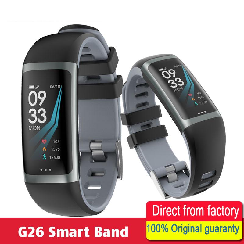 G26 Fitness Tracker Color Screen Waterproof Watch Heart Rate Blood Pressure Oxygen Wristband Sports