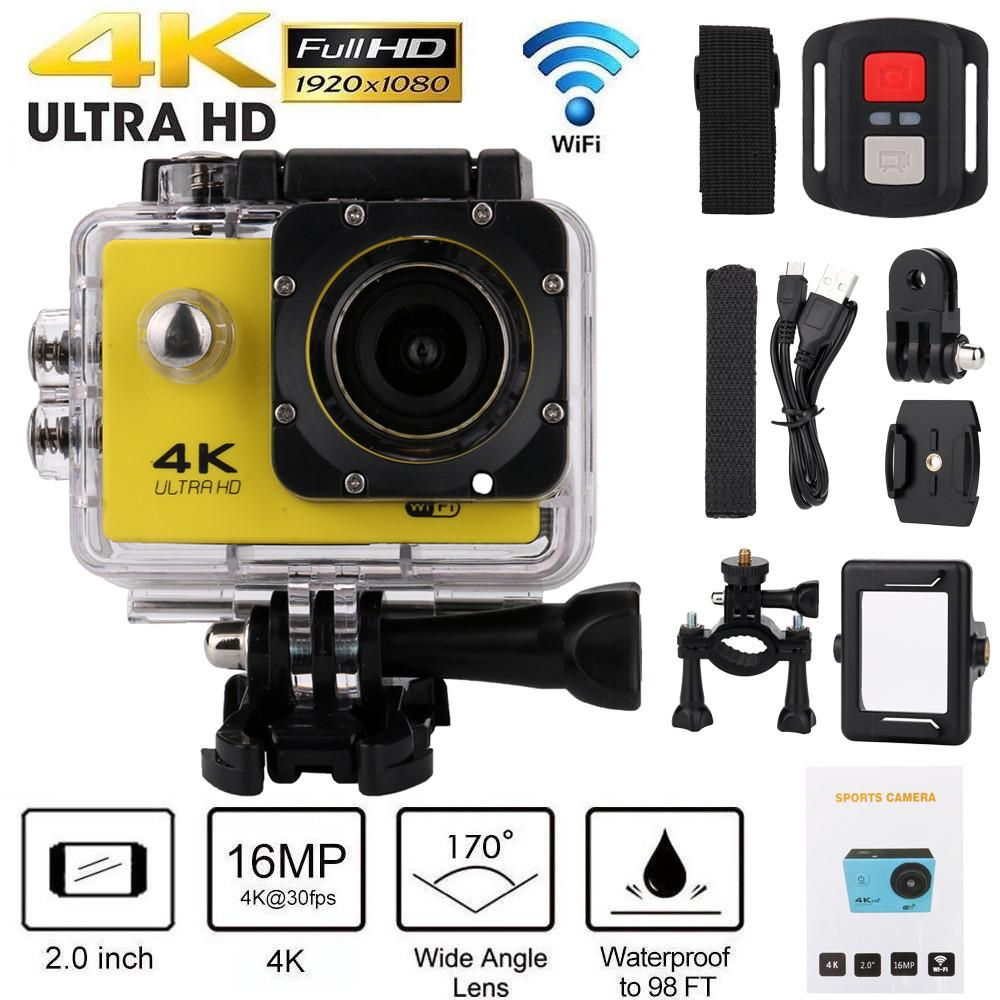 4K Wifi 1080P Waterproof Sports Action Remote Control Camera DVR Cam Camcorder