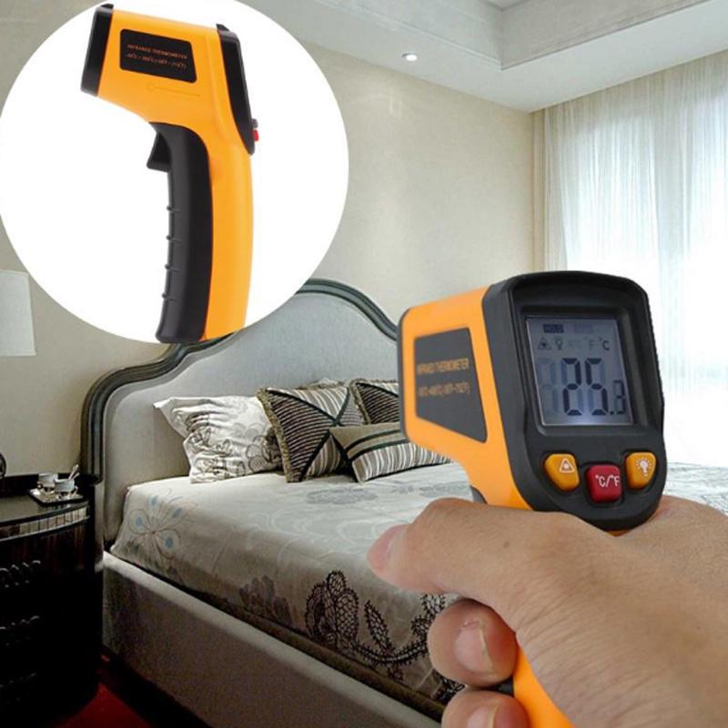 Non-Contact Laser LCD Display Infrared Digital C/F Surface Temperature Thermometer Pyrometer Indoor