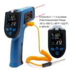 IR Infrared Thermometer Hygrometer Digital Non-contact Dual Laser Temperature Humidity Meter Multifunction KT550D