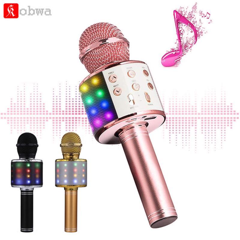 Bluetooth Wireless Microphone Home Karaoke Microphones Speaker Music Player Singing KTV Recorder