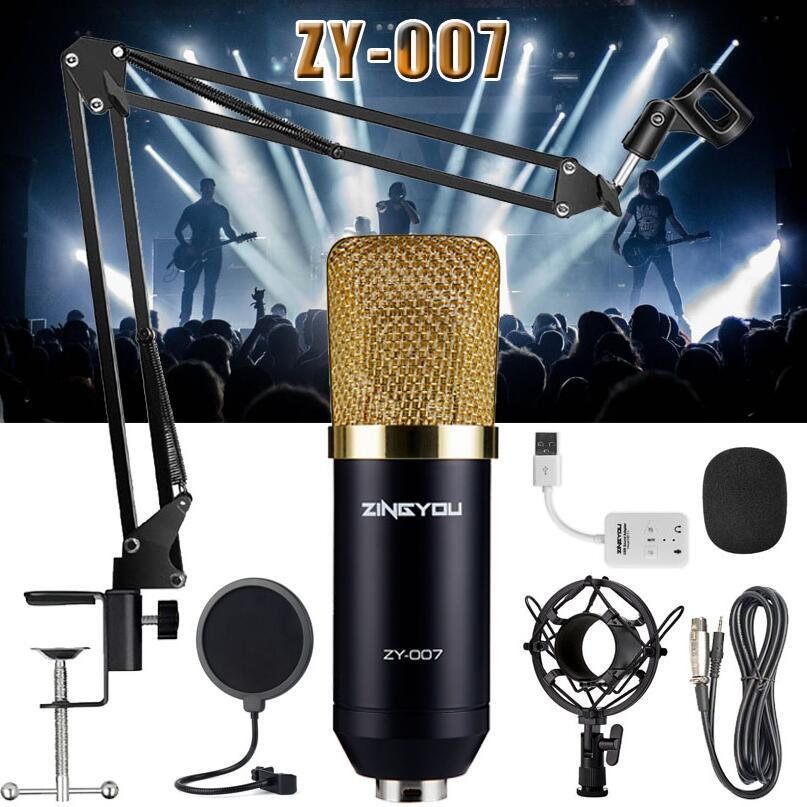 ZINGYOU 007 Pro Studio Recording & Broadcasting Microphone Set Suspension Boom Scissor Arm Stand