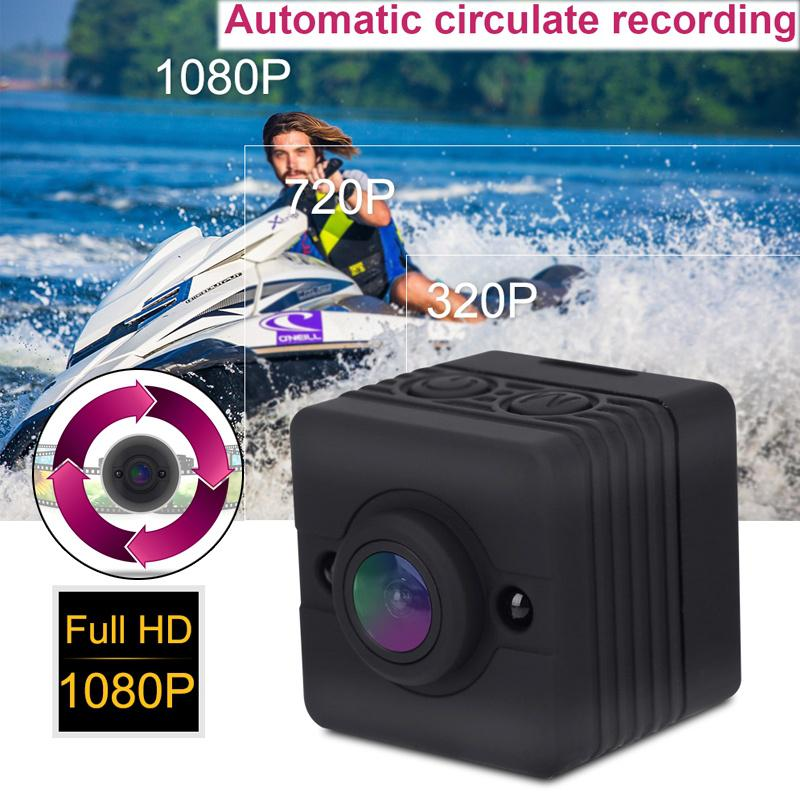 1080P HD Portable Mini Infrared Waterproof Cube Action Camera Camcorder for Home Security